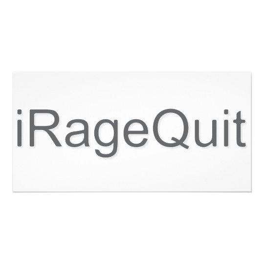 iRageQuit Rage Quitting Gamer Custom Photo Card