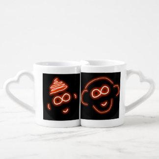 Irahs and Luap Monkey Love mug set
