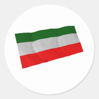 iran classic round sticker