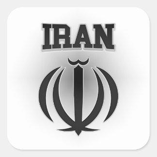 Iran Coat of Arms Square Sticker