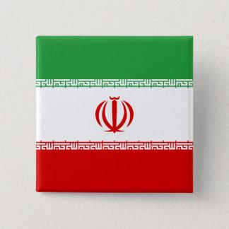 Iran Flag 2 Inch Square Button