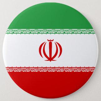 Iran Flag 6 Inch Round Button