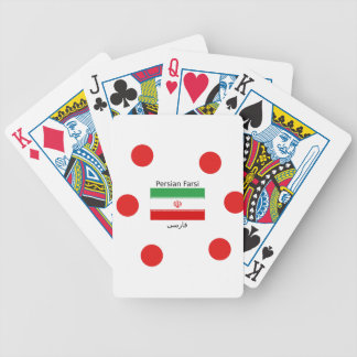Iran Flag And Persian Farsi Language Design Bicycle Playing Cards