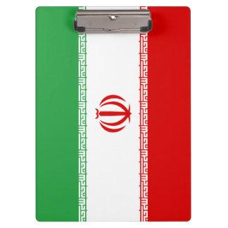 Iran Flag Clipboard