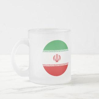 Iran Flag Frosted Glass Coffee Mug