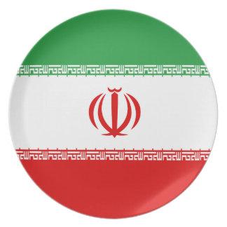Iran Flag Plate