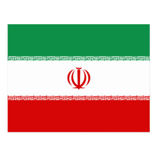 Iran Flag Postcard