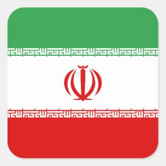 Iran Flag Square Sticker