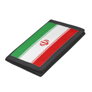 Iran Flag Trifold Wallets