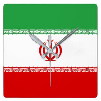 Iran Flag Wall Clocks