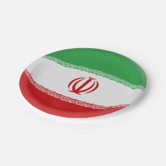 Iran Iranian Flag Paper Plate