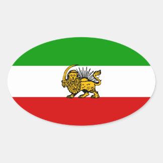 Iran Lion & Sun Flag Oval Sticker