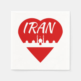 Iran love Iran Paper Napkins