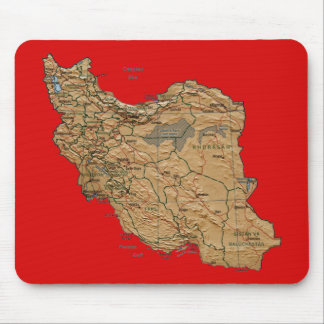 Iran Map Mousepad