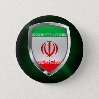 Iran Metallic Emblem 2 Inch Round Button