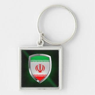 Iran Metallic Emblem Keychain