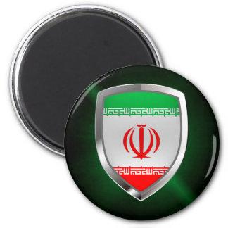 Iran Metallic Emblem Magnet