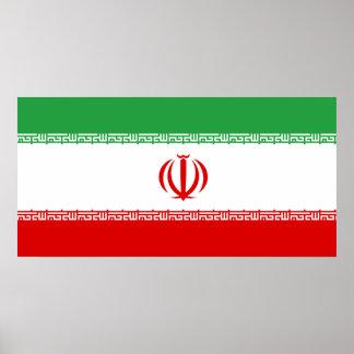 Iran National World Flag Poster