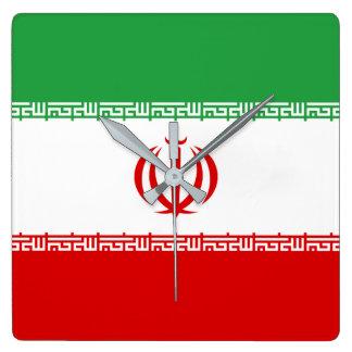 Iran National World Flag Wall Clock