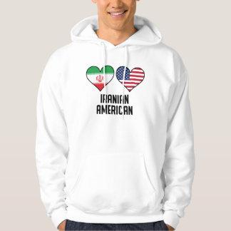 Iranian American Heart Flags Hoodie