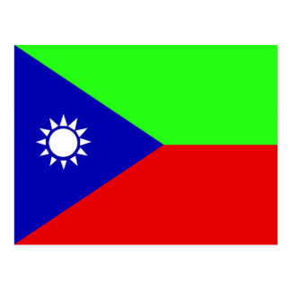 Iranian Baluchistan, Indonesia flag Postcard