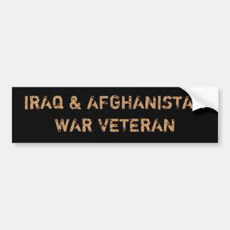 IRAQ & AFGHANISTAN WAR VETERANS BUMPER STICKER