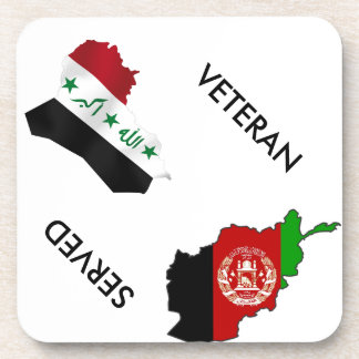 Iraq Afghanistsan Veteran Drink Coaster