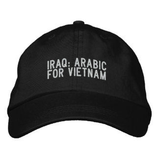 iraq: arabic for vietnam embroidered hat