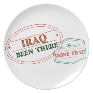 Iraq Been There Done That Plate