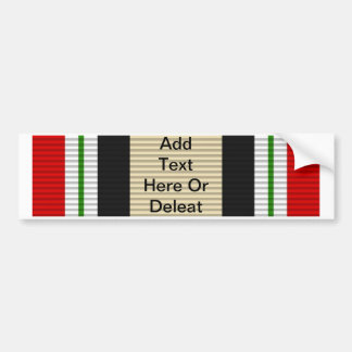 Iraq Campaign Medal Bumper Sticker