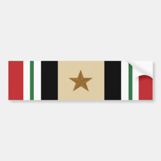 Iraq Campaign Military Ribbon Bumper sticker