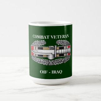 Iraq Campaign Ribbon CAB Combat Veteran Mug