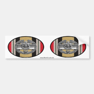 Iraq Combat Medical Badge Euro-Oval Sticker Pair