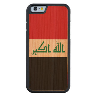 Iraq Flag Carved Cherry iPhone 6 Bumper Case