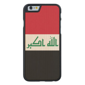 Iraq Flag Carved Maple iPhone 6 Case