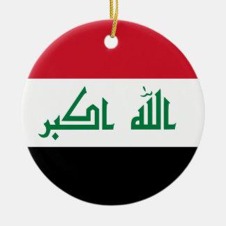 Iraq Flag Ceramic Ornament