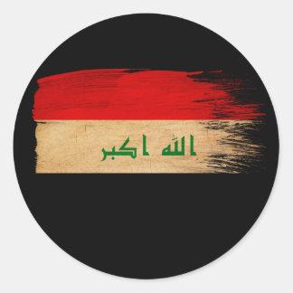 Iraq Flag Classic Round Sticker