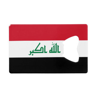 Iraq Flag Credit Card Bottle Opener