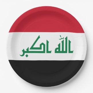 Iraq Flag Paper Plate