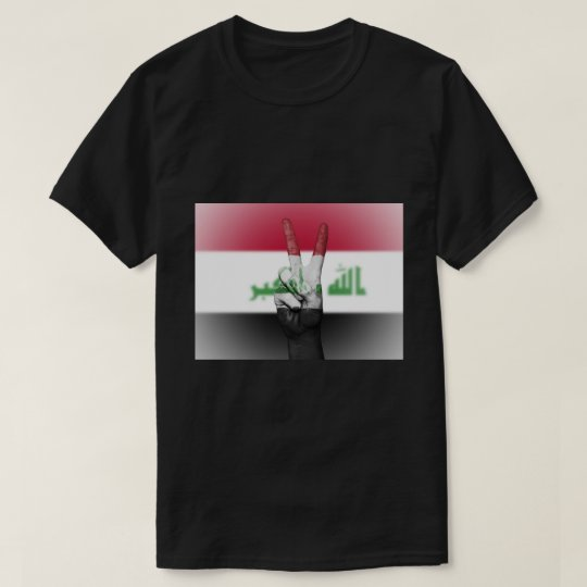Iraq Flag Peace Sign - Patriotic T-Shirt
