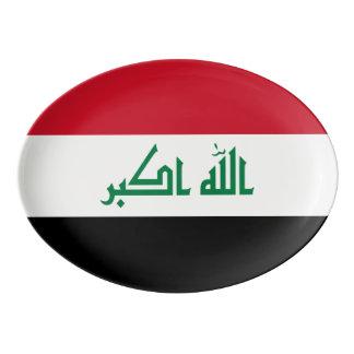 Iraq Flag Porcelain Serving Platter