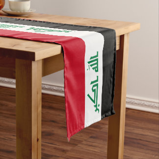 Iraq Flag Short Table Runner