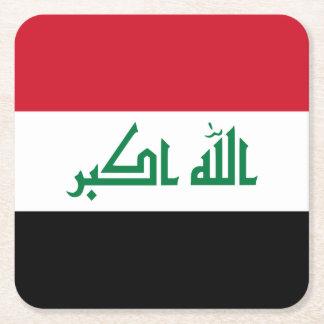 Iraq Flag Square Paper Coaster