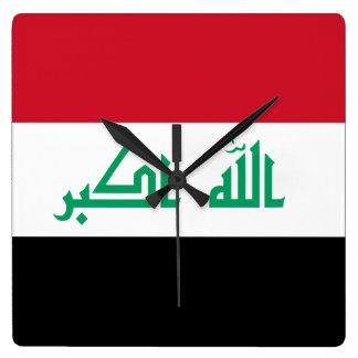 Iraq Flag Square Wall Clock