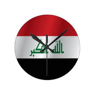Iraq flag wall clocks