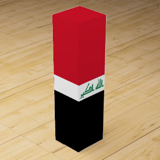 Iraq Flag Wine Box