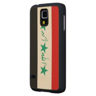 Iraq Flag Carved® Maple Galaxy S5 Slim Case