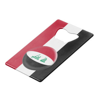 Iraq Iraqi Flag Credit Card Bottle Opener