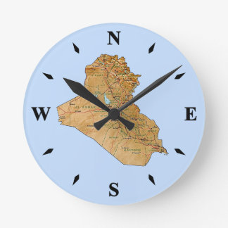 Iraq Map Clock