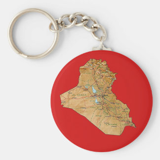 Iraq Map Keychain
